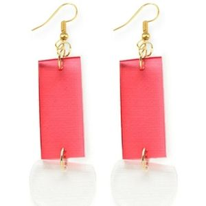 Ink and Alloy Jewelry - NWT Ink and Alloy pink rectangle & clear half